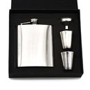 Blank Hip Flask Gift Set with Shot Glasses and Funnel, 7 Oz. , 6 7/10