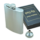 Aspire Stainless Steel Hip Flask & Funnel Set, 8 Ounce, for Alcohol Whiskey