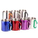 Blank Camping Mug With Carabiner, 7.5 oz, 2 3/4