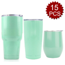 (Price/15PCS)Aspire 12oz, 20oz, 30oz Stainless Steel Tumbler, Double Walled Insulated Travel Mug Wine Glass