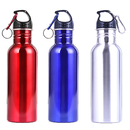 Aspire Premium Stainless Steel Wide Mouth Water Bottle with Carabineer for Hiking Cycling, 750ml