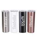 Aspire Personalized 20 oz. Stainless Steel Skinny Tumbler with Straw Cleaning Brush, Add Your Name or Text