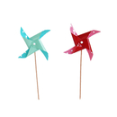 (Pack of 20) Aspire Pinwheel Cupcake Topper Toothpicks, Party Decoration, Halloween Christmas Party Favors