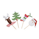 (Pack of 36) Aspire Christmas Cupcake Topper Toothpicks, Food Toothpicks, Cocktail Picks, Party Supplies, Christmas Party Favors