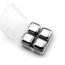 Blank 18/8 Stainless Steel Ice Cubes, Set of 4
