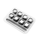 Blank Stainless Steel Whisky Chillers, Set of 8, 1