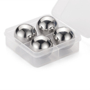 Aspire Ball Shaped Whiskey Stone, 18/8 Stainless Steel, 4PCS