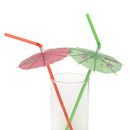 (Pack of 36) Aspire Cocktail Party Umbrella/Fruit/Clown Tropical Drink Straws