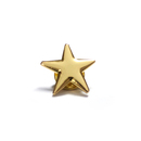 (Price/6PCS) ALICE Gold Star Lapel Pin, Size 3/4