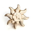 (Price/50PCS) ALICE Sun Face Lapel Pin with Butterfly Attachment