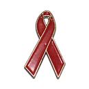 (Price/25PCS) ALICE AIDS & HIV Red Awareness Ribbon Stock Pins, 1