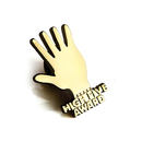 (Price/100PCS) ALICE High Five Lapel Pin, 1/2