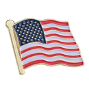 (Price/25PCS) ALICE American Flag Enamel Lapel Pin