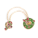 (Price/25PCS) ALICE Christmas Wreath and Crutch Collar Pins with Golden Double Chains Tassels
