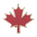(Price/25PCS) ALICE Canadian Red Maple Leaf Canada Enamel Lapel Pin, 1-1/4