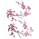 Alice Plum Blossom Flower Iron on Embroidered Applique Patch Embroidery Patches