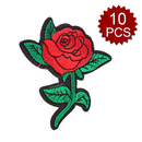 Alice 10PCS Flower Applique Embroidered Sew On Iron on Patch Decorative Patches