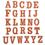 26pcs Orange Letter