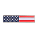 (Price/25 PCS)Opromo USA American Flag Citation Bar Lapel Pin, 1-3/4