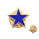 25/50/100PCS ALICE Color Filled Star Lapel Pin Achievement Pins, 1/2