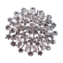 Opromo Womens Crystal Elegant Flower Bridal Corsage Brooch Pin Clear Silver-Tone