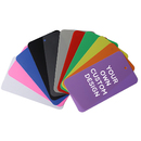 (Pack of 1000 PCS) Muka Personalized Double-sided Plastic Tags with Snap Lock, Add Your Own Design