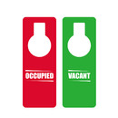 Muka Plastic Double Sided Red OCCUPIED Green VACANT Door Knob Hanger Sign for Hotel Office Conference Room