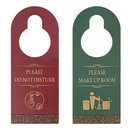 Muka Please Do Not Disturb Make Up Room Door Knob Hanger Sign for Hotel, Double Sided