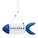 Aspire Wooden Fish Bone Welcome Sign, Single Sided Welcome Hanging Plaque Home Store Beach Decor
