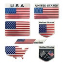 (Pack of 6PCS) Aspire US American Flag Series Metal Emblem, Car Sticker