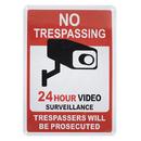 Aspire Aluminum 24 Hour Video Surveillance Sign, No Trespassing Sign, UV Printed