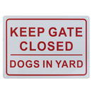 Aspire Keep Gate Closed Dogs in Yard Sign, UV Printed, Weatherproof, Indoor and Outdoor Use