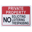 Aspire No Soliciting No Loitering No Trespassing Sign Private Property Signs, Indoor Outdoor Use