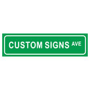 Aspire Customized Reflective Street Sign, Avenue Sign- Rust Free Aluminum Sign, White on Black, White on Green