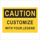 Aspire Personalize Add Your Text Caution Sign- Custom Rust Free Aluminum Sign, Black on Yellow