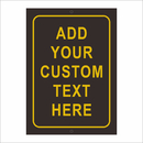Aspire Customizable Aluminum Sign, Add Your Custom Text Here Rust Free Sign, Gold on Black