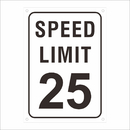 Aspire Reflective Personalized Aluminum Sign, Speed Limit Rust Free Custom Safety Sign, Black on White