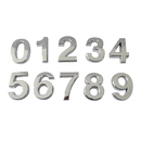 (Pack of 4) Aspire Silver Mailbox House Car Number, Digit (0-9)