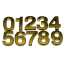 (Pack of 4) Aspire Golden Self-Stick Number for Door, House and Mailbox, Digit (0-9)