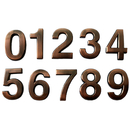 (Pack of 4) Aspire Bronze ABS 1.4 inches 2 inches 2.75 inches House Hotel Mailbox Number Sign, Digit (0-9), Adhesive Numbers