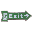 Aspire Metal Tin Sign, Welcome/Open/Exit Arrow Sign, 3-3/10