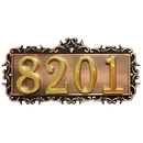 Aspire Customized Metal Address Plaque Sign, Hotel House Office Apartment Digital Signs, Personalized House Number or Mailbox Sign, Small Size, 3 or 4 Numbers Only