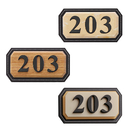 Aspire Customized House Address Plaques, Acrylic Hotel House Office Apartment Digital Signs, Mailbox Number Sign