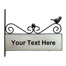 Aspire Customized Home Address Sign, Vintage Decorative Cast Iron Wooden House Hotel Cafe Pub School Number Sign, Personalized Double Sided Address Plaque