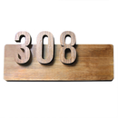 Aspire Customized Home Address Sign, Wooden House Hotel Office Number Sign, Personalized Address Plaque Sign, Indoor & Outdoor Use