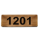 Aspire Personalized Wooden Address Plaque, Customized House Number Sign, 4.3