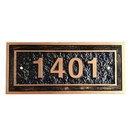 Aspire Personalized Address Plaque, Custom Rectangle House Number Sign