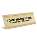 Aspire Personalized Office Name Plate With Desk Holder, Laser Engraved, for School Business Hotel