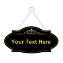 Aspire Customized Decorative House Hotel Cafe Pub School Store Message Sign, Personalized Double Sided Acrylic Door Sign with Hanging String