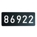 Aspire Personalized Luminescent House Number Plaque, Customized Home Numbers and Letters, Glow in The Dark Sign